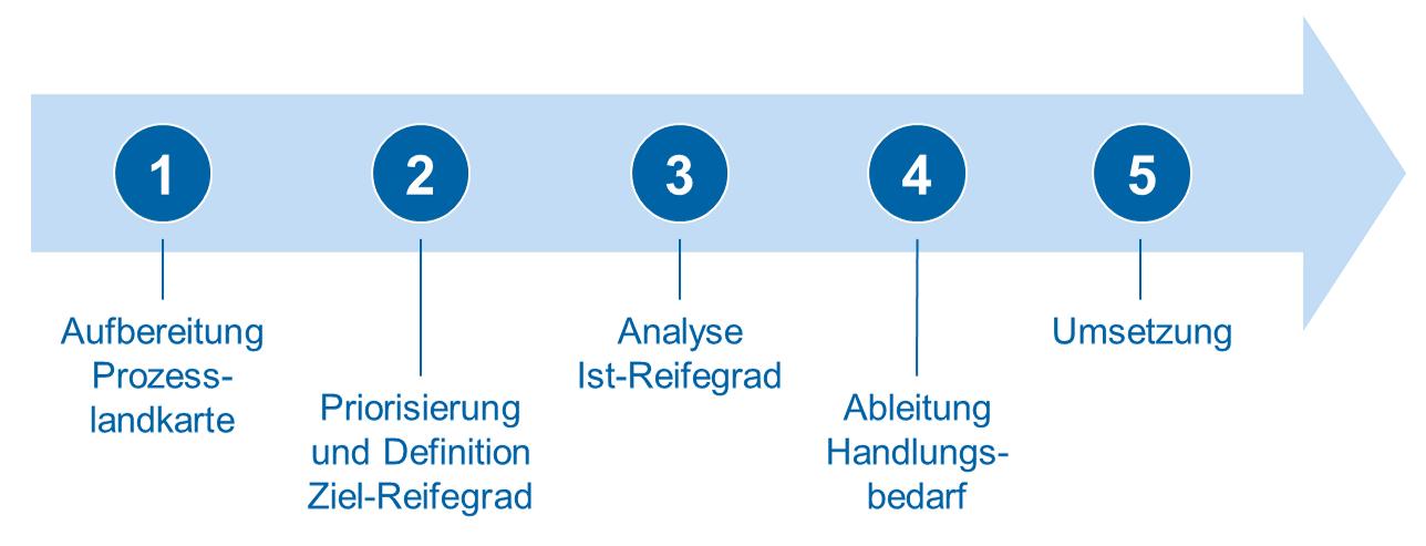 Vorgehensmodell von der Prozesslandkarte bis zur Umsetzung