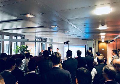 Bild des vollem zeb Office beim fünften Get Together für Banken und Fintechs