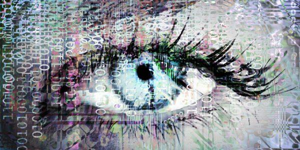Bild vom Auge in Datenströmen um CDO Agenda darzustellen