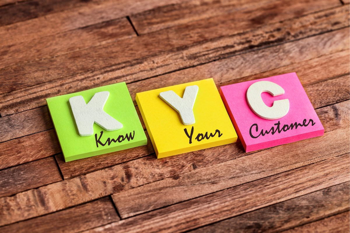 Darstellung der Buchstaben: K, Y, C, - know your customer