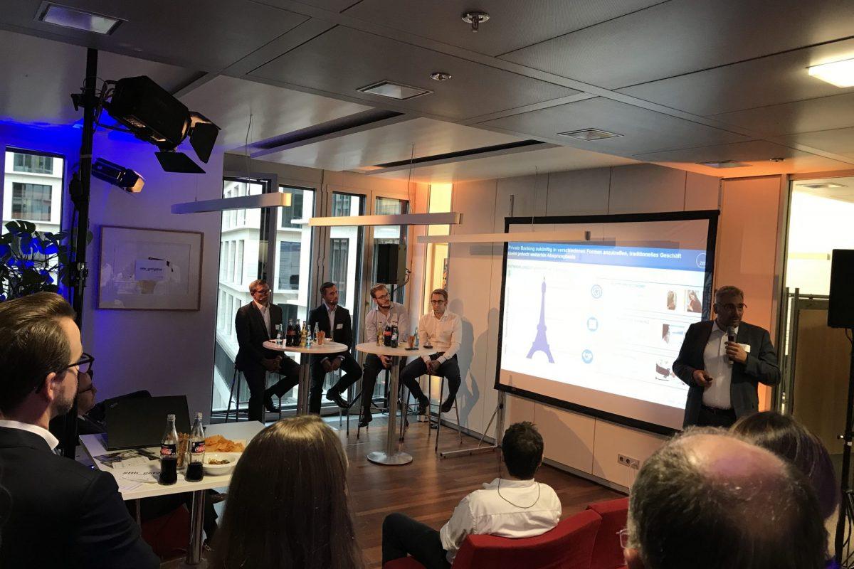 Networking powered by Fintech Hub – sechstes Get Together für Banken und Fintechs: Zwischen Ledersessel und Smartphone – Wie sieht das Private Banking von Morgen aus?