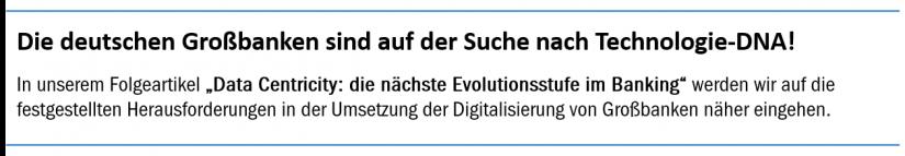"""Artikelteaser """"Die deutschen Großbanken sind auf der Suche nach Technologie-DNA!"""""""