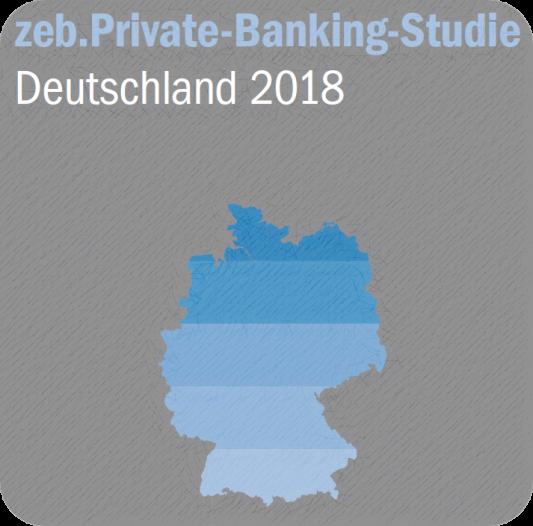 """Cover der Studie """"zeb Private Banking Studie Deutschland - 2018"""""""