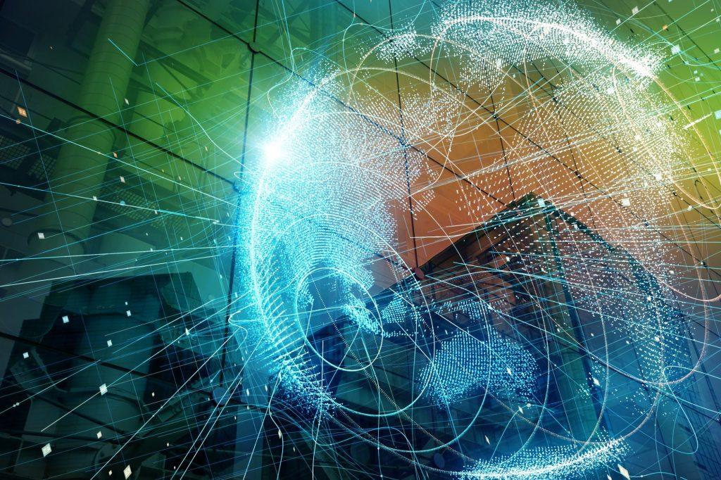 Globales Netzwerk und Smartcity als Metapher für 5 Bankingtrends, auf die es 2019 ankommt