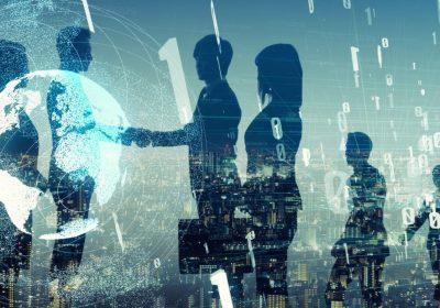 Große Gruppe von Business-Leuten als Metapher für Firmenkundengeschäft der Zukunft - Firmenkundenstudie 6.0
