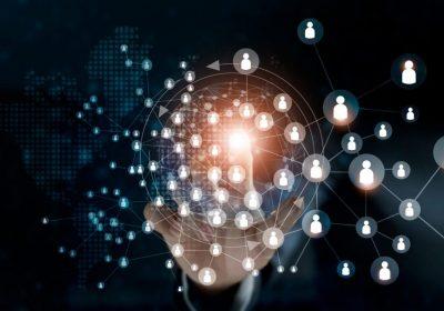 """Abstraktes Netzwerk als Metapher für """"Neue modulare Versicherungsprodukte – Orientierung an den Lebenswelten der Kunden"""""""