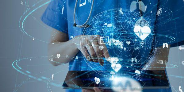 Abstrakte Darstellung eines Netzwerkes im Gesundheitsmarkt zum Thema Deutsche Apotheker- und Ärztebank (apoBank) – Finanz- und Gesundheitsmarkt im Wandel_BankingHub