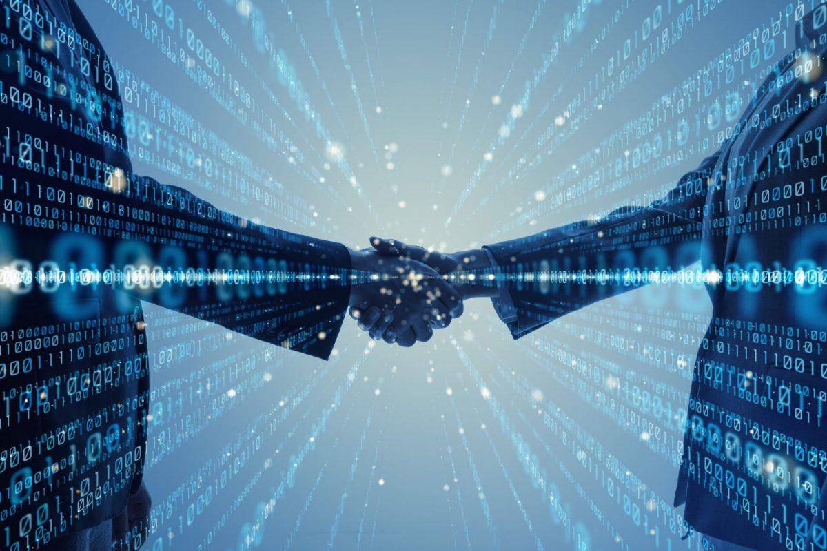 """Abstrakte Darstellung zum Artikel """"Digitalisierung des Firmenkundenkredits"""" auf BankingHub"""