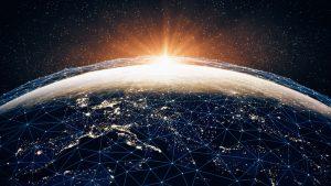 Bild des abstrakten Globus zu Sustainable Investment – Einfluss des Pariser Klimaabkommens auf die Finanzindustrie_BankingHub