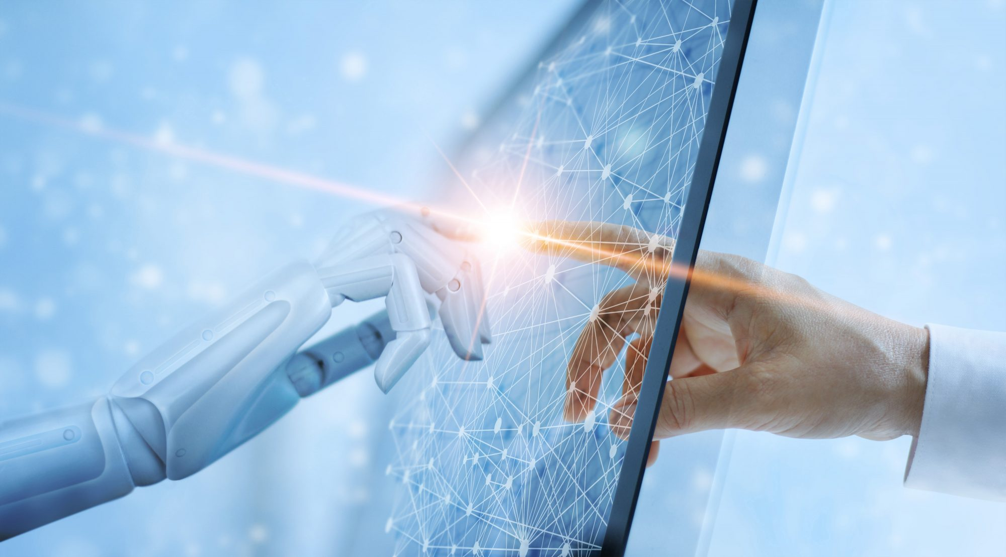 Bild Mensch triff Ki zu Automatisierung von Geschäftsprozessen im Bankenumfeld / BankingHub