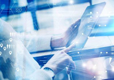 Bild-eines virtuellen Screens zu Low-Code-Development im Banking / BankingHub