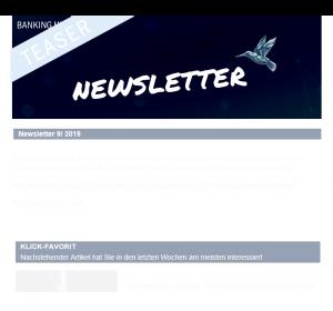 Teaser BankingHub Newsletter