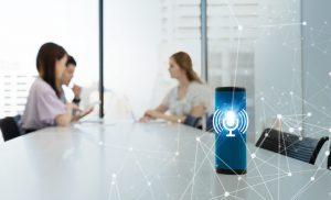Darstellung eines Voice Assistent zu Sprachsteuerung im Online-Banking_BankingHub
