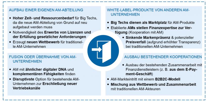 Abbildung 5: Markteintrittsmöglichkeiten von Big Techs / BankingHub