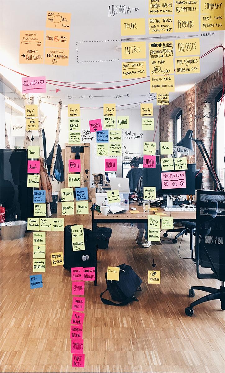 Designthinking Neugelb / BankingHub