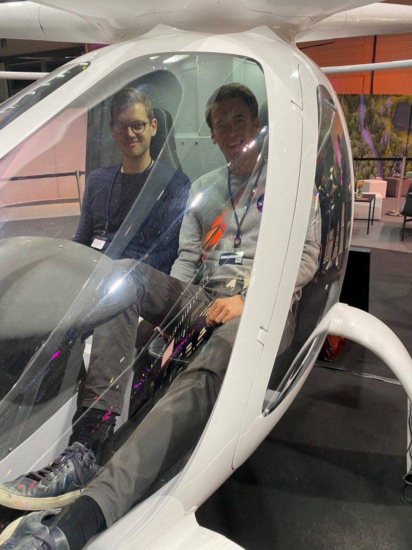 Hubschrauber der Firma Volocopter / Digital X 2019 / BankingHub