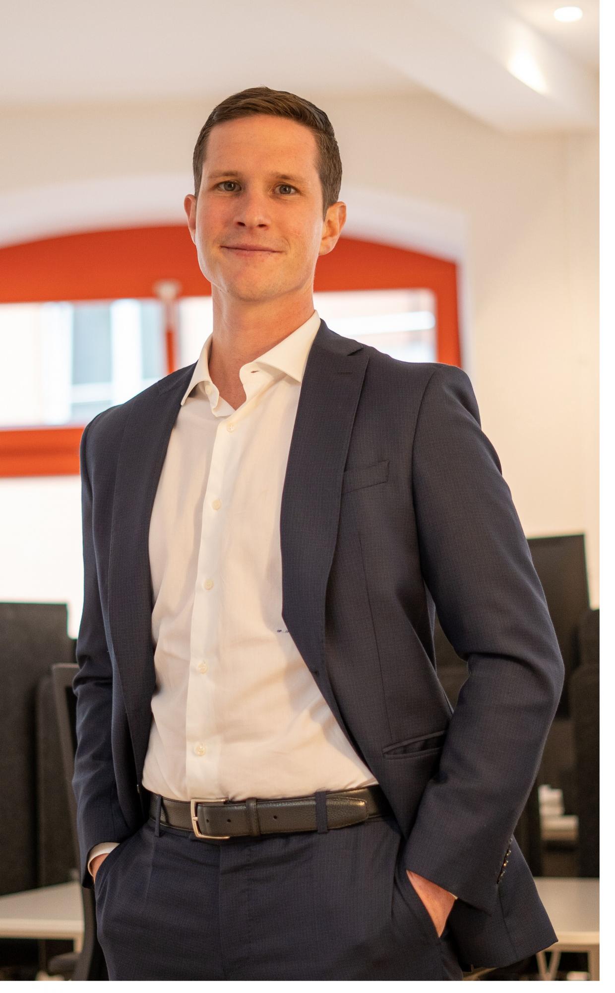 Foto von Patrick Stäuble, CEO und Founder der Teylor AG / BankingHub