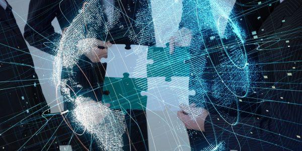 Abstraktes Bild welches auf Mergers & Akquisitions in der Digitalisierung hindeutet