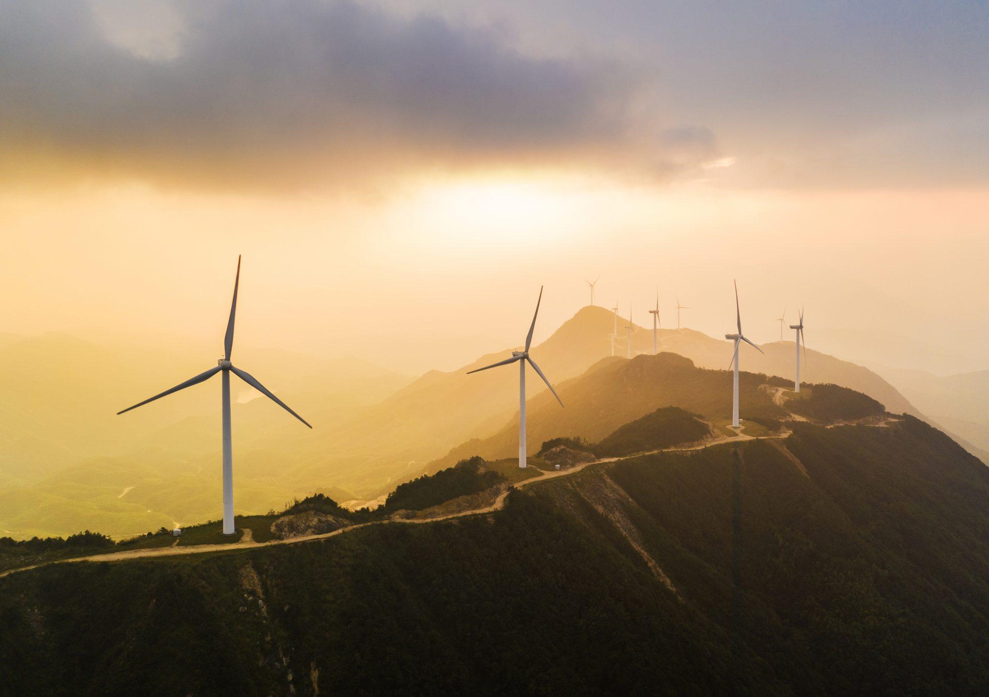 """Windfarm als Metapher für den Artikel zur Thematik """"Wieso nehmen ESG-Investitionen zu?"""""""