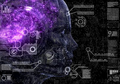 """Abstraktes Bild einer KI als Metapher für """"Das Treasury wird autonom – Einsatz von KI und digitalen Technologien"""""""