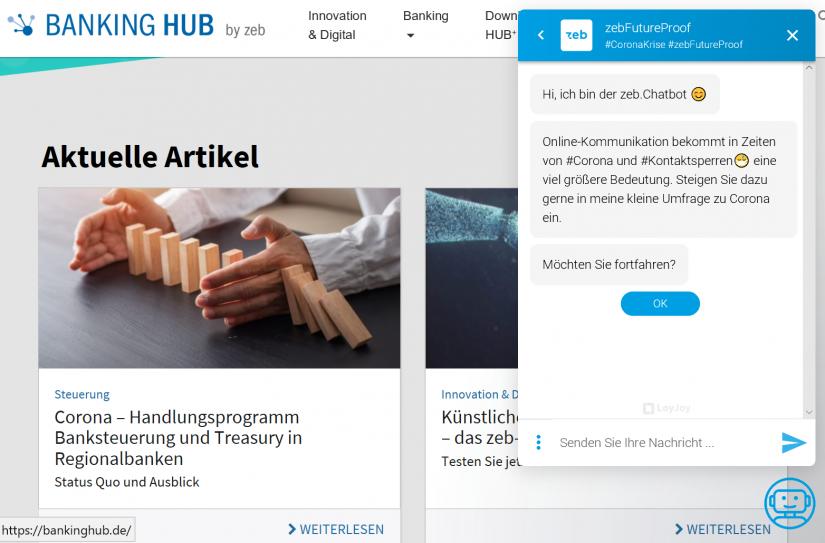 Chat mit dem interaktiven Corona-Chatbot / _Arbeiten zu Corona-Zeiten – Auswertung der interaktiven Chatbot-Umfrage