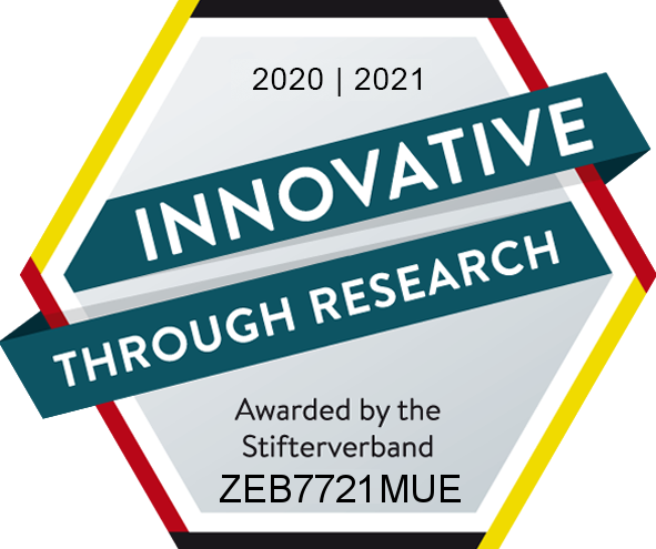 Gütesiegel: Innovative Through Research: zeb.resarch