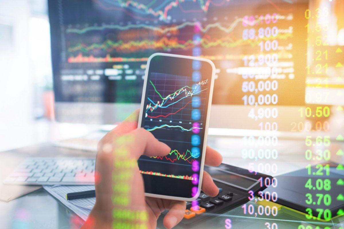 """Blick auf den Aktienmarkt als Metapher für den Artikel """"Zinsschock und Zinsrisikokoeffizient"""""""