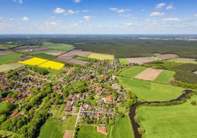 """Blick auf eine Region in Deutschland als Metapher für den Artikel """"Regionalität, Nachhaltigkeit und Wertewandel bei Banken"""""""