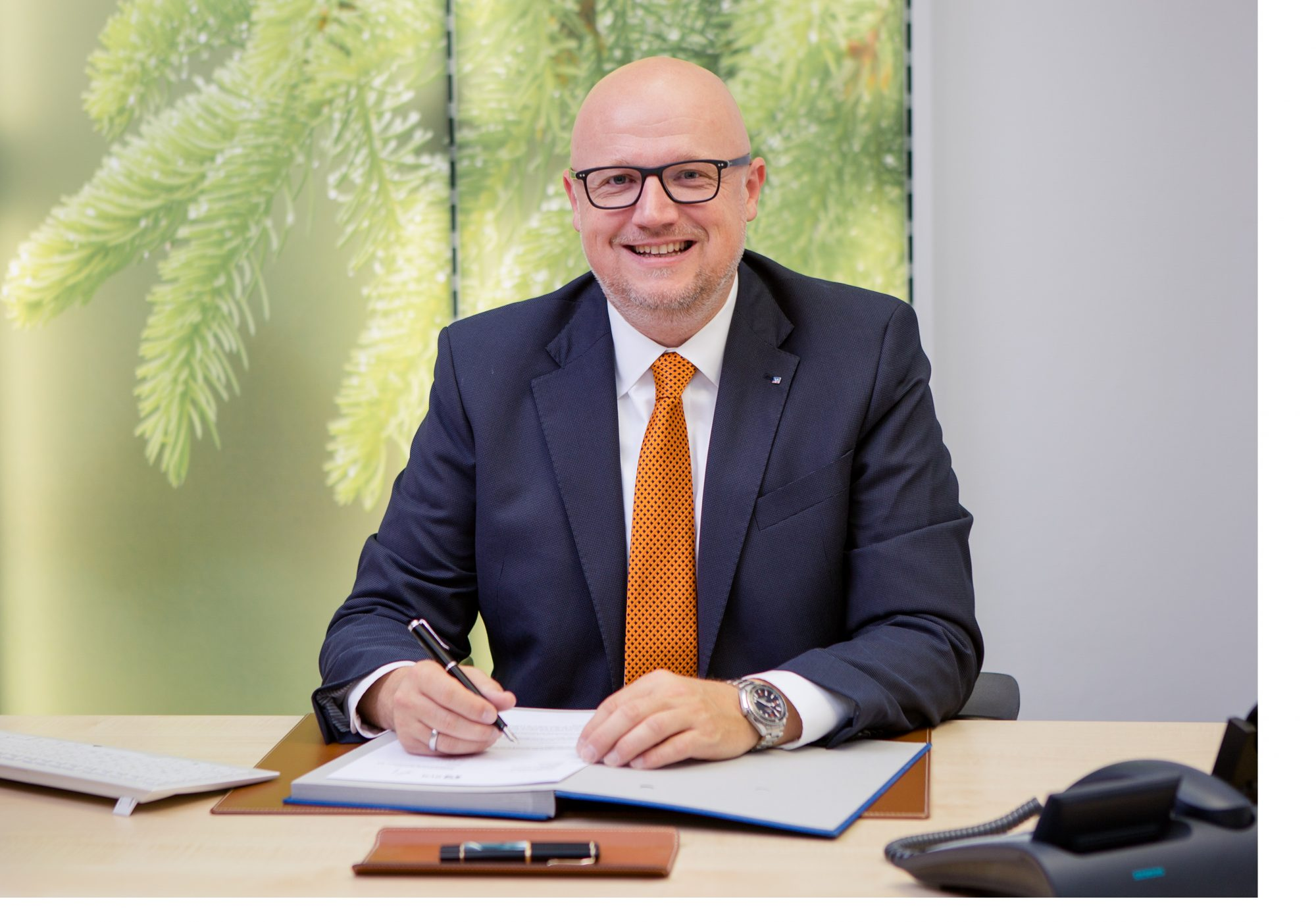 Andreas Held, Sprecher des Vorstands der Interessengemeinschaft kleiner und mittlerer Genossenschaften und Vorstandsvorsitzender der Raiffeisenbank Gefrees im Interview auf dem BankingHub