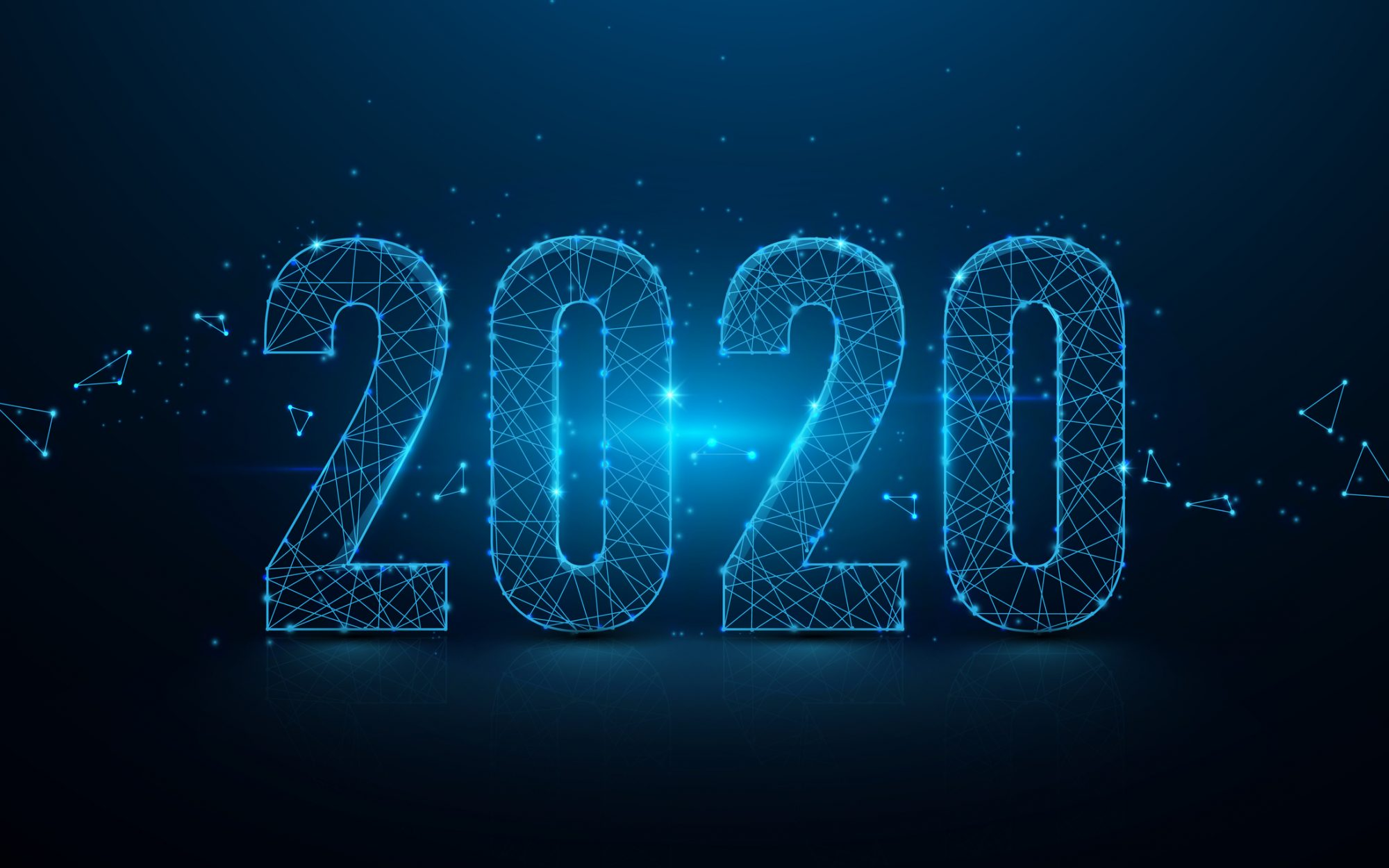 """Illustration 2020 als Metapher für """"Kreditgeschäft 2020: Digitale Ereignisse"""""""