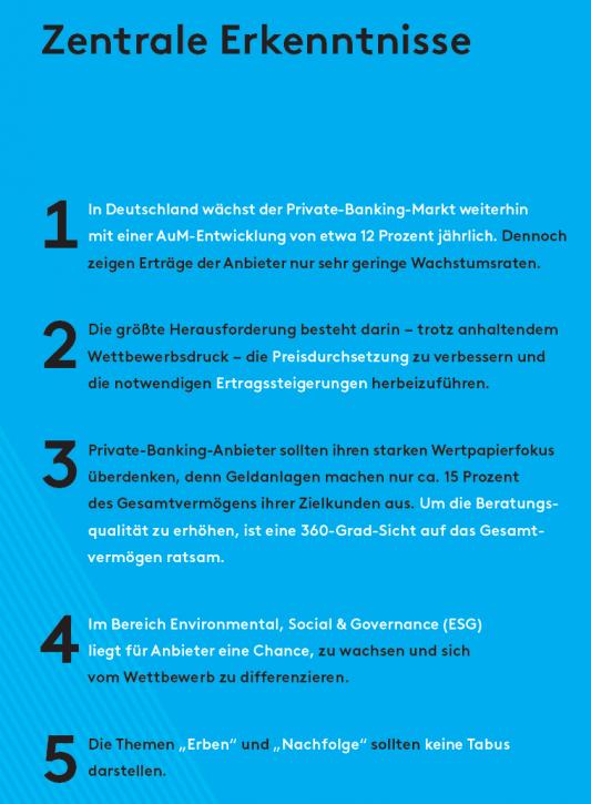 Teaser Zentrale Erkenntnisse Studienheft Private Banking 2020