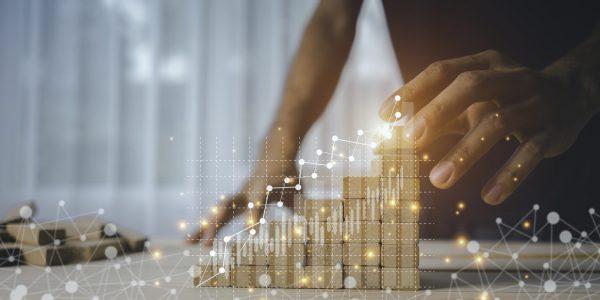 """Abstraktes Bild der Zinsentwicklung als Metapher für den Artikel """"Dynamic Risk Management Accounting: Buchungslogik"""""""