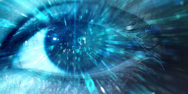 """Auge blickt auf Daten als Metapher für """"Löschkonzept (EU-DSGVO) – Recht auf Vergessenwerden"""""""