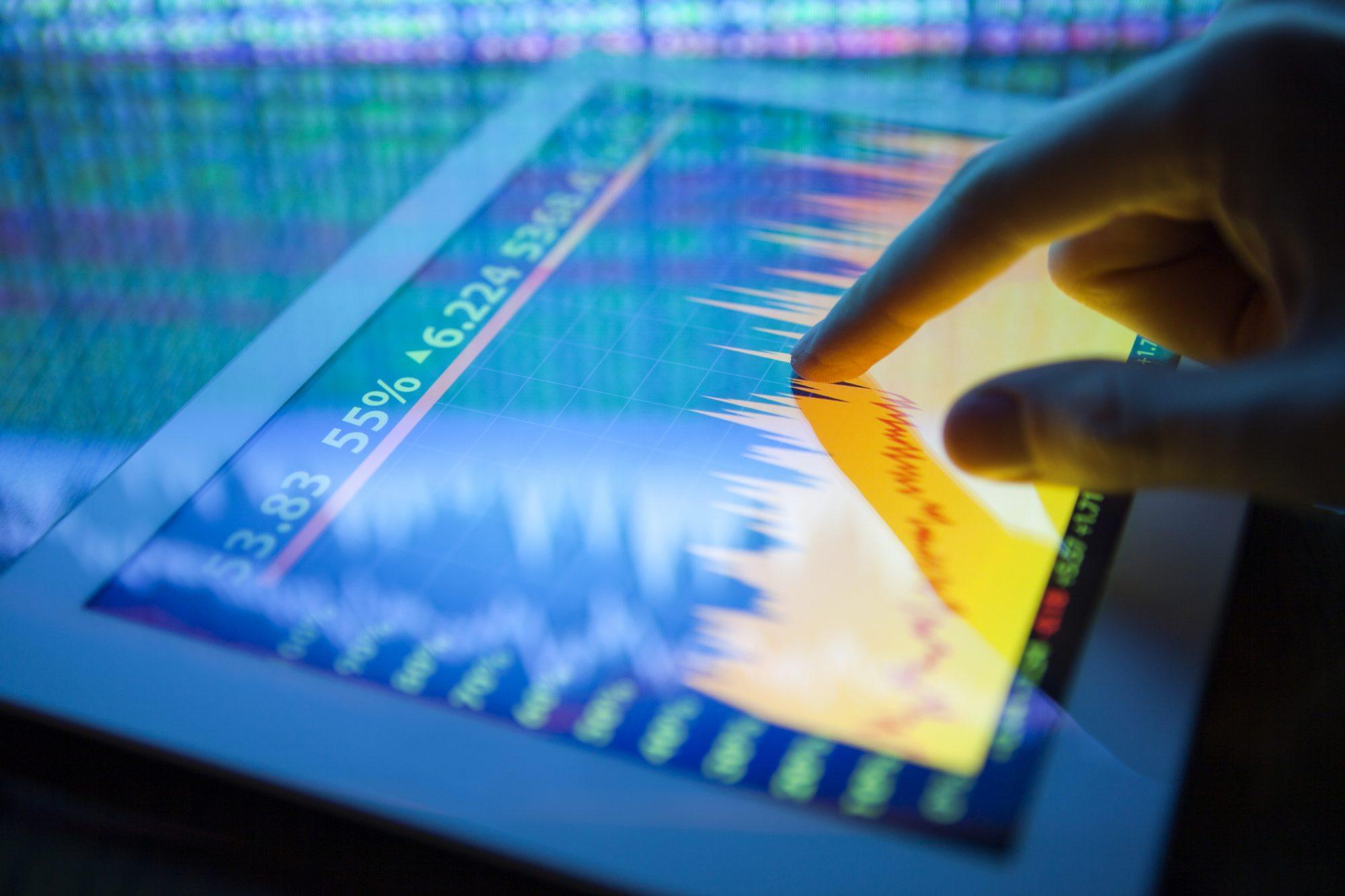 """Blick auf Stock Market als Metapher für """"Trade Finance – Herausforderungen und Möglichkeiten"""""""