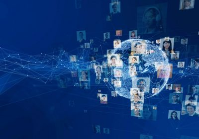 """WorldwiBusiness Netzwerkkonzept als Metapher für den Artikel """"Die Digitalisierung im Personalwesen: Die digitale Personalakte als Einstieg in die digitale Welt"""""""