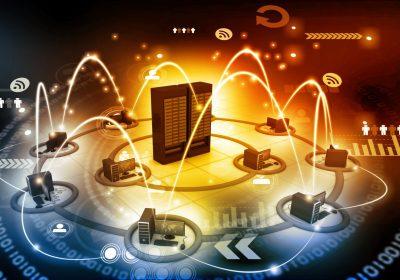 """Dezentrales Netzwerk als Metapher für den Artikel """"Kryptowertpapier – disruptive Innovation am Kapitalmarkt"""""""