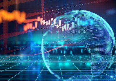 """Technischer Finanz-Graph als Sinnbild für den Artikel """"NSFR 2.0 – Scharfschaltung der strukturellen Liquiditätsquote"""""""