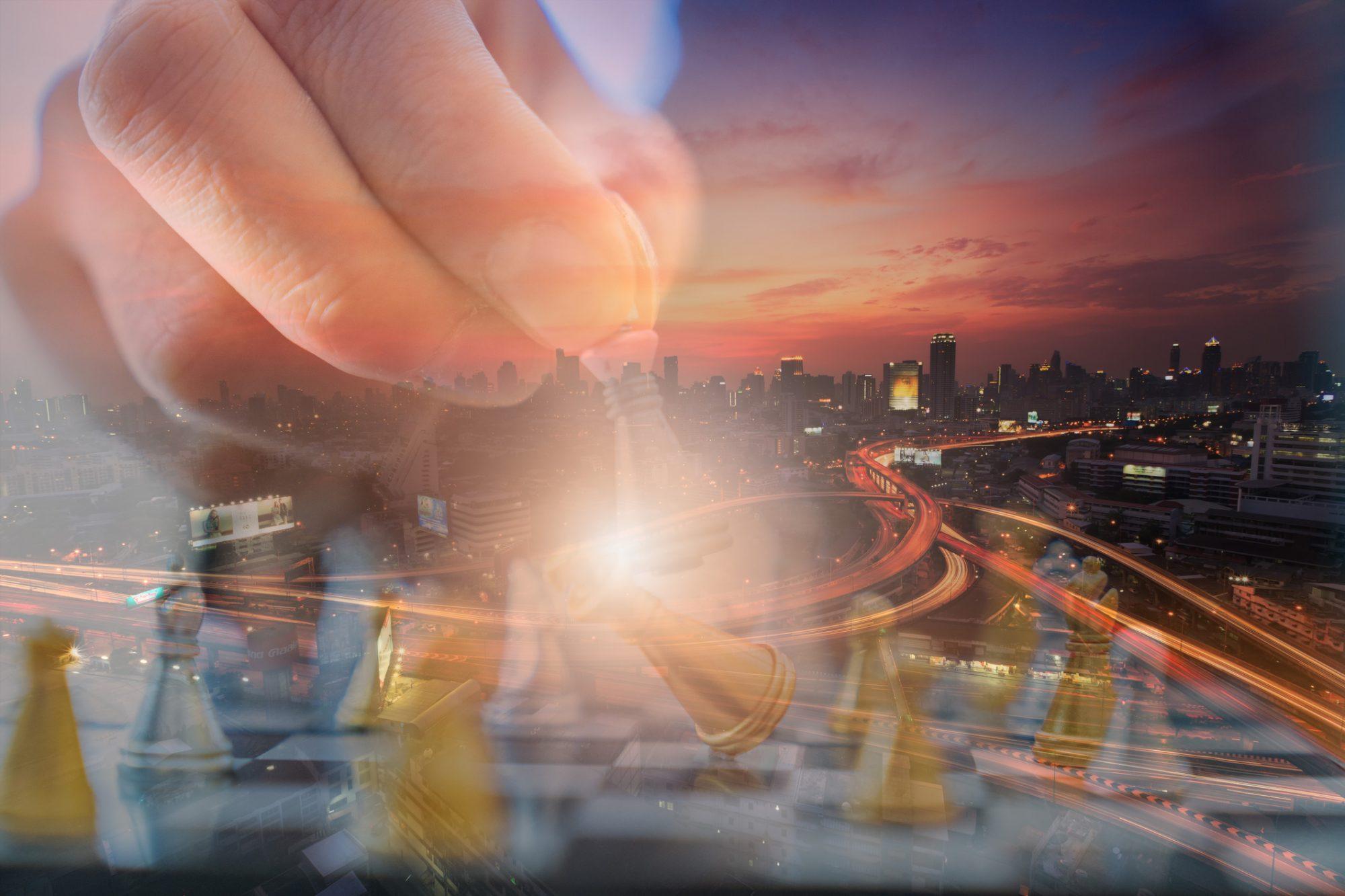 """Strategischer Zug im Schach als Metapher für den Artikel """"Zukunft Payment-Markt: Spielen Banken noch eine Rolle?"""""""